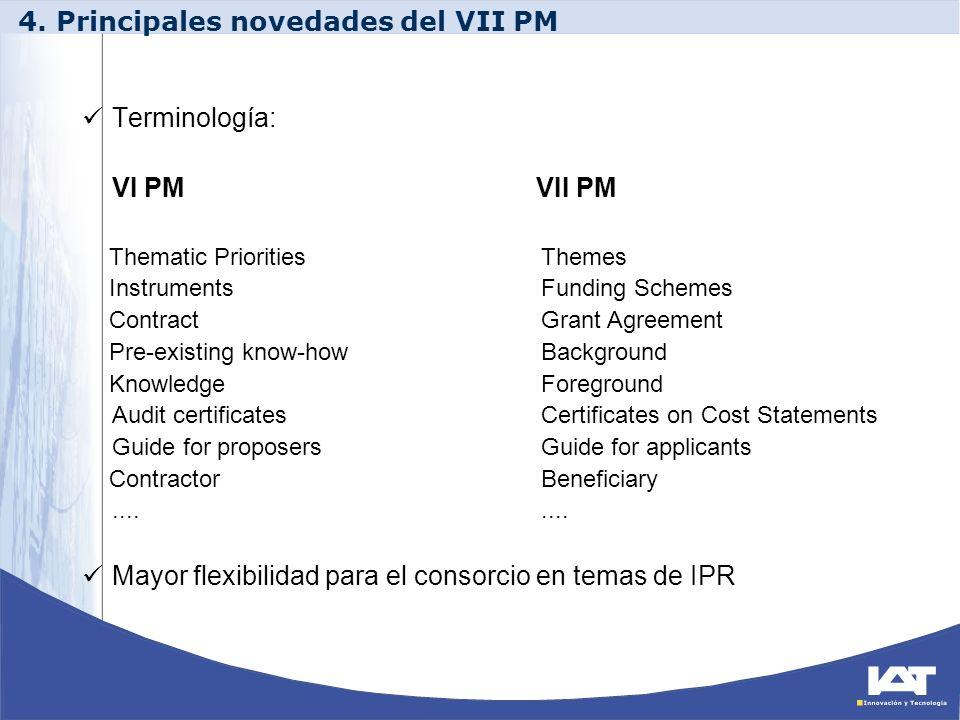4. Principales novedades del VII PM