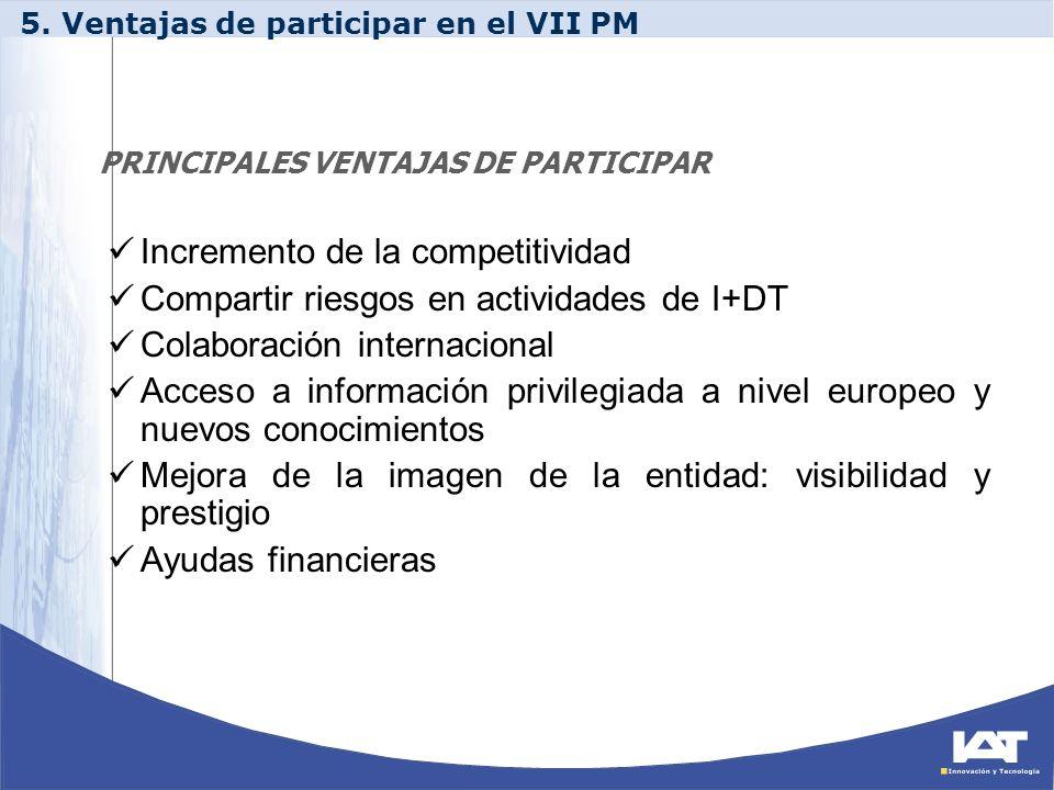 PRINCIPALES VENTAJAS DE PARTICIPAR