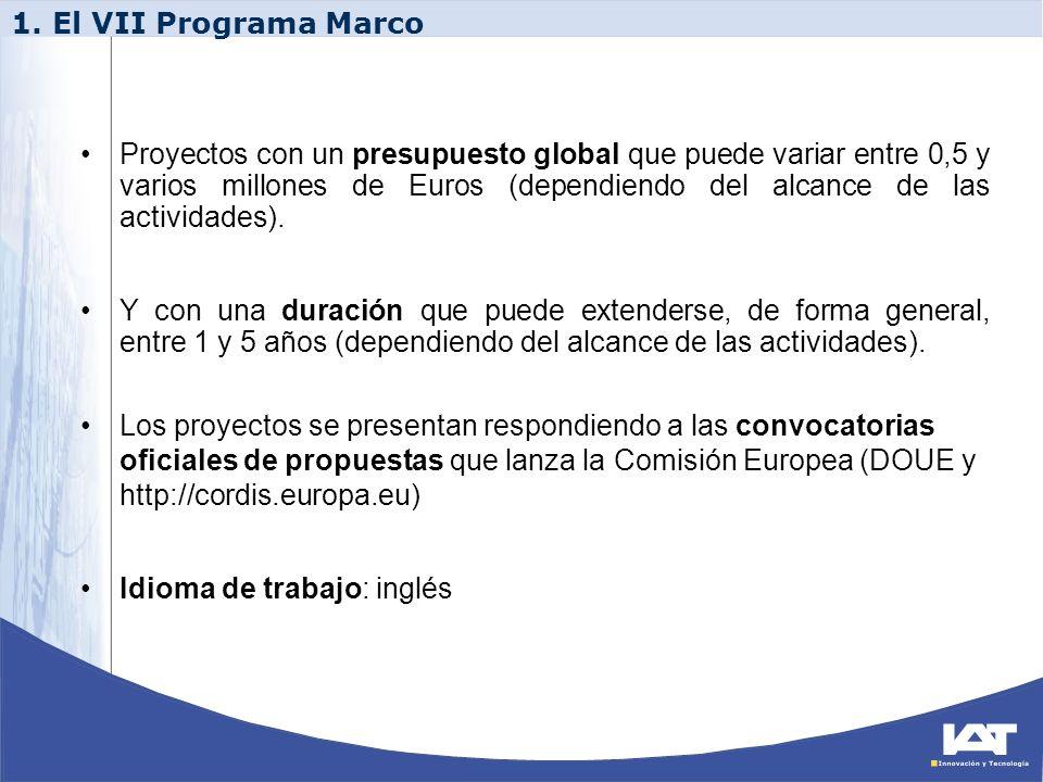 1. El VII Programa Marco