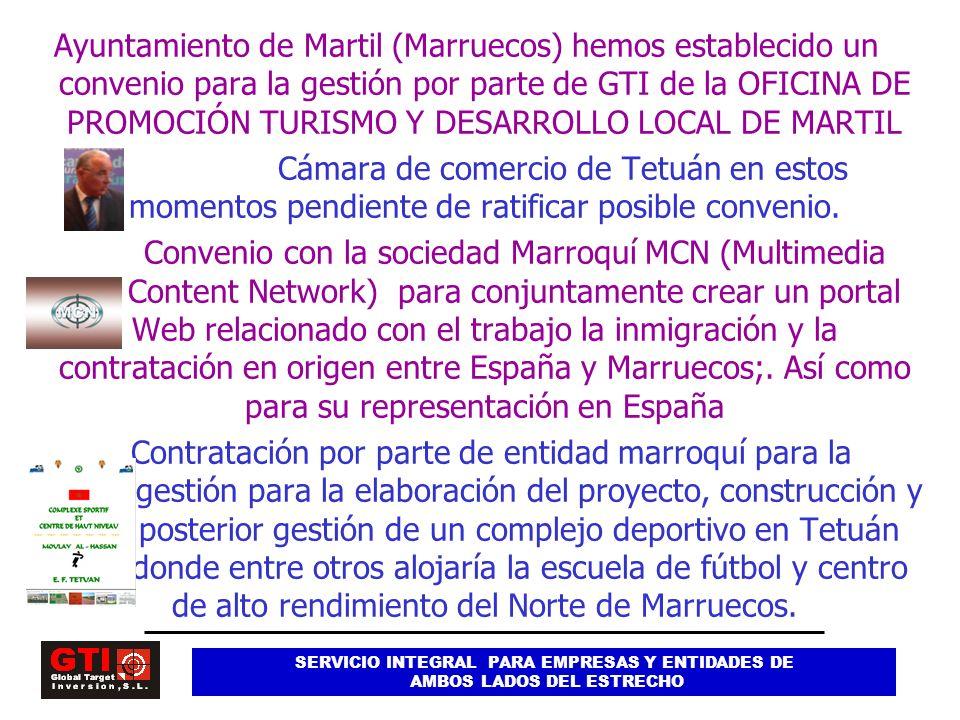Ayuntamiento de Martil (Marruecos) hemos establecido un convenio para la gestión por parte de GTI de la OFICINA DE PROMOCIÓN TURISMO Y DESARROLLO LOCAL DE MARTIL