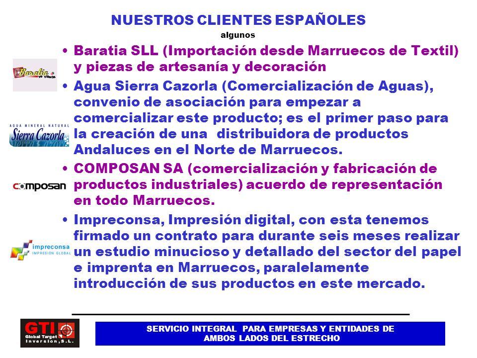 NUESTROS CLIENTES ESPAÑOLES