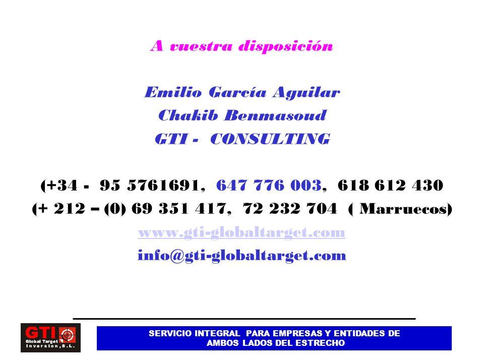 A vuestra disposición Emilio García Aguilar Chakib Benmasoud