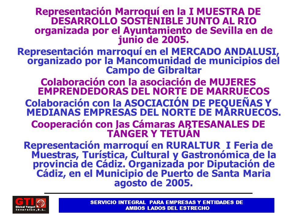 Cooperación con las Cámaras ARTESANALES DE TÁNGER Y TETUÁN