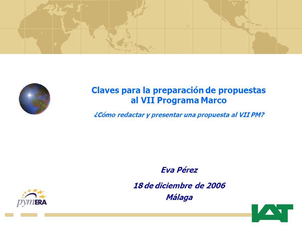 Claves para la preparación de propuestas al VII Programa Marco