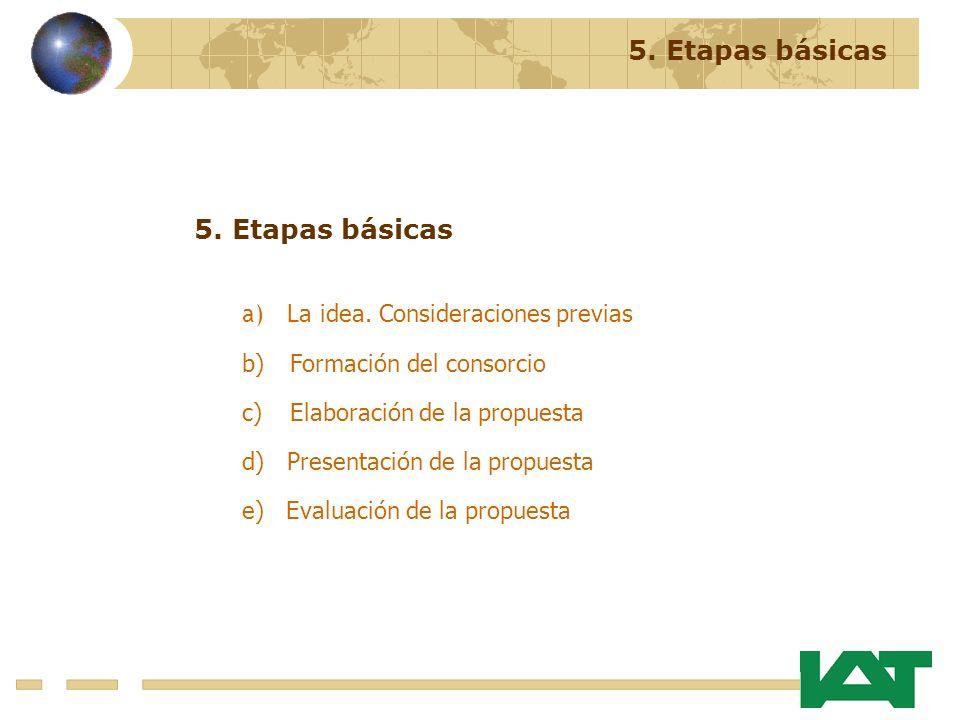 5. Etapas básicas 5. Etapas básicas