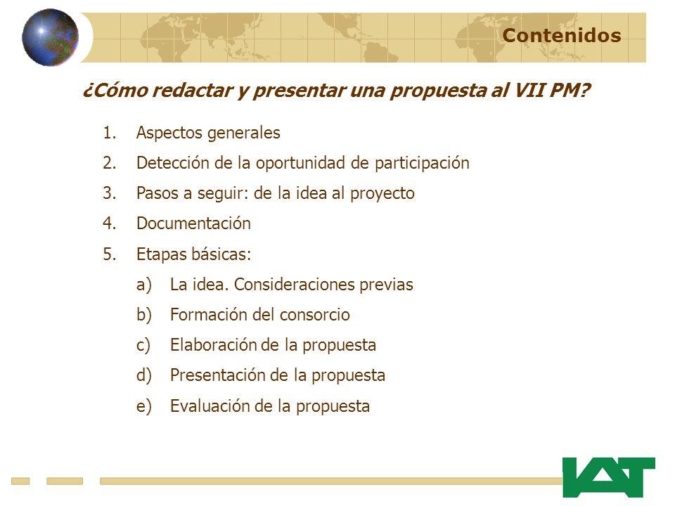 ¿Cómo redactar y presentar una propuesta al VII PM