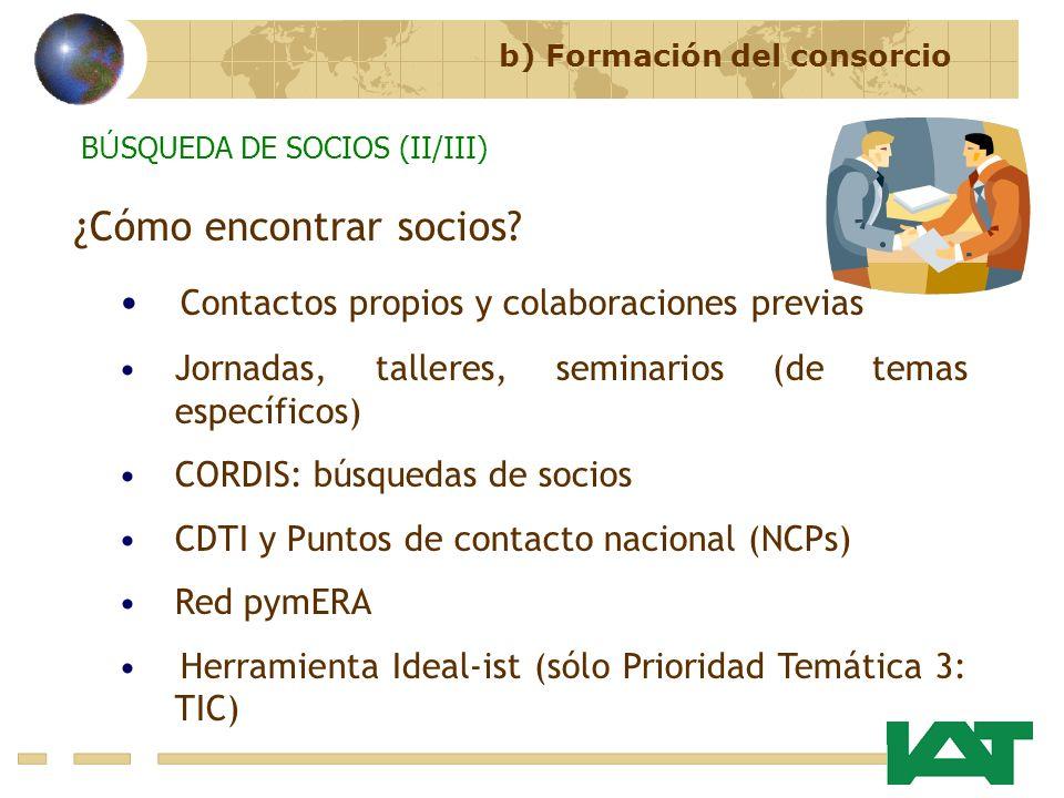 ¿Cómo encontrar socios Contactos propios y colaboraciones previas