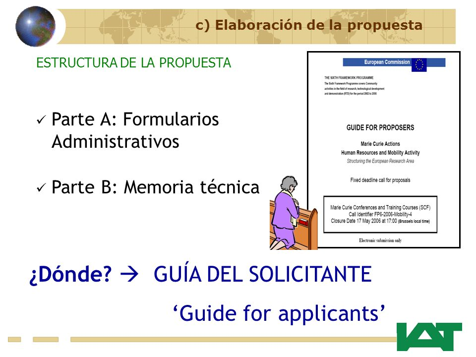 ¿Dónde  GUÍA DEL SOLICITANTE 'Guide for applicants'
