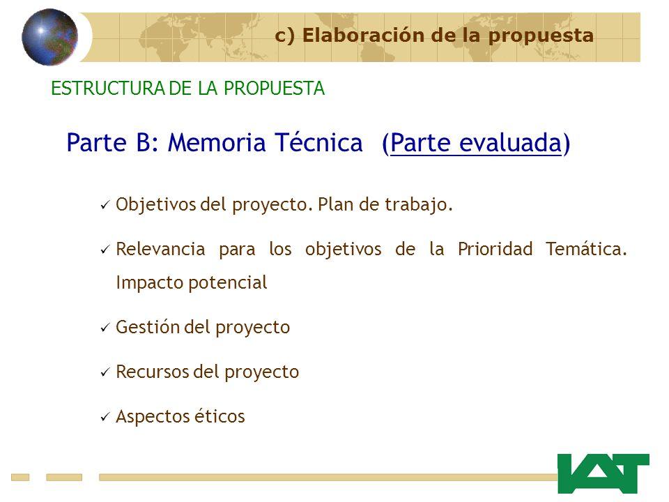 Parte B: Memoria Técnica (Parte evaluada)