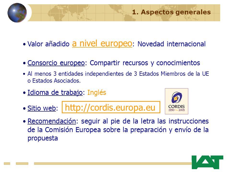 Valor añadido a nivel europeo: Novedad internacional