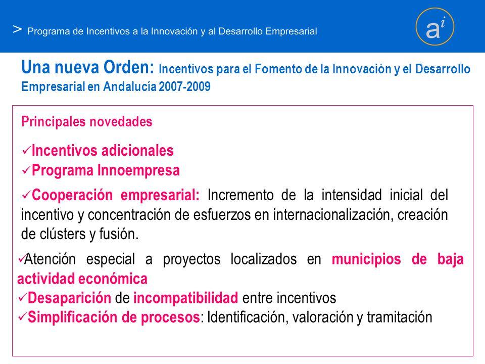 > Una nueva Orden: Incentivos para el Fomento de la Innovación y el Desarrollo Empresarial en Andalucía 2007-2009.