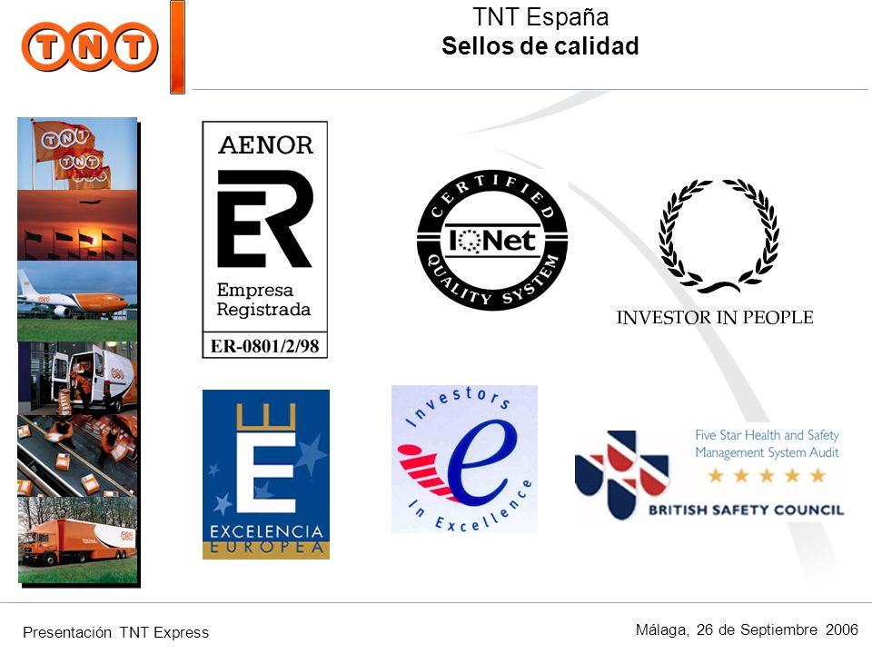 TNT España Sellos de calidad