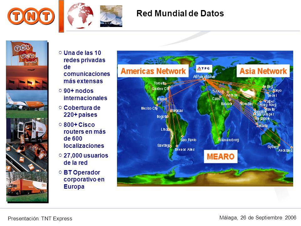 Red Mundial de Datos Una de las 10 redes privadas de comunicaciones más extensas. 90+ nodos internacionales.