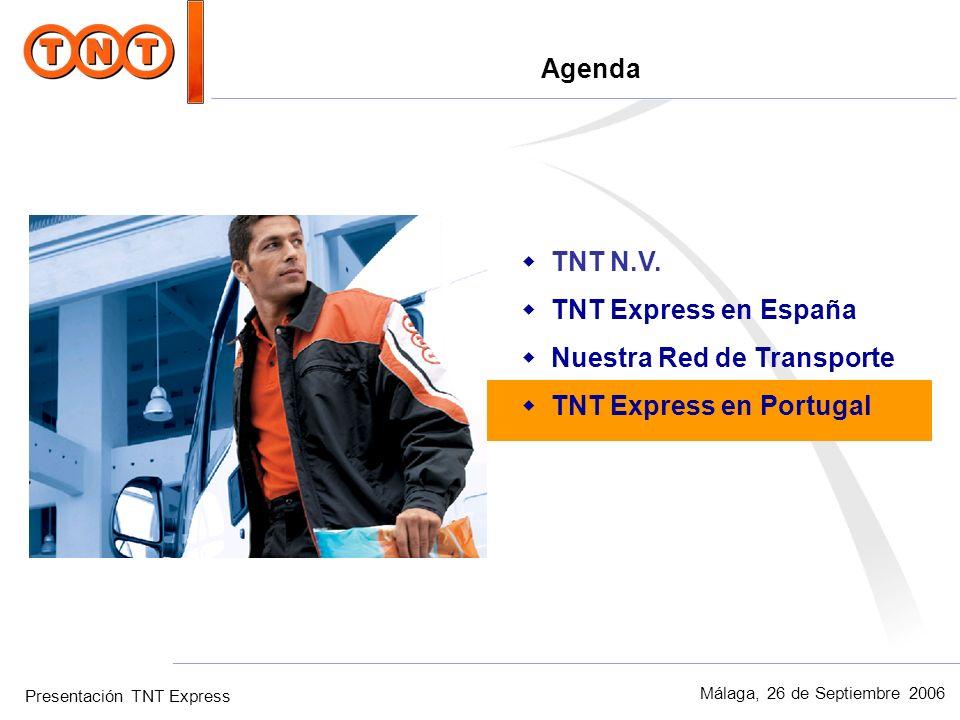 Agenda TNT N.V. TNT Express en España Nuestra Red de Transporte TNT Express en Portugal
