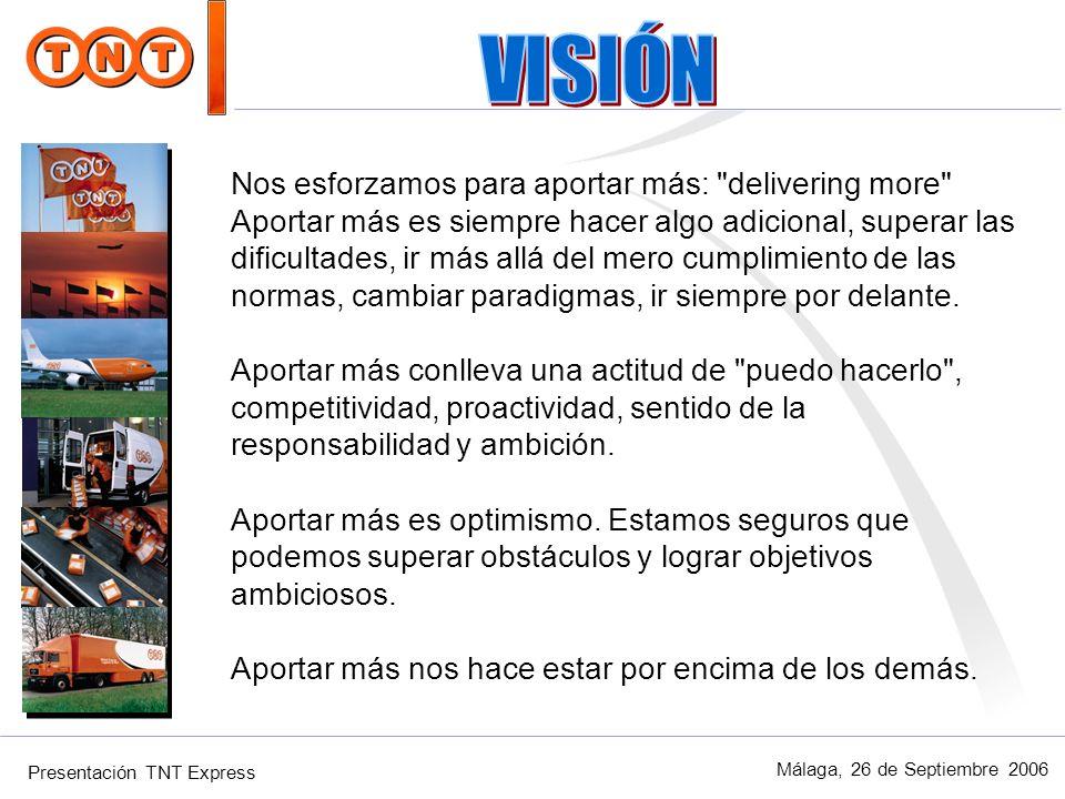 VISIÓN Nos esforzamos para aportar más: delivering more