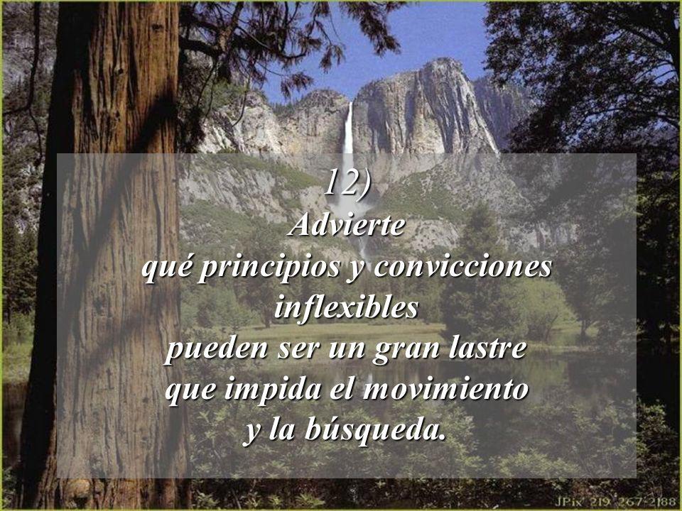 12) Advierte qué principios y convicciones inflexibles
