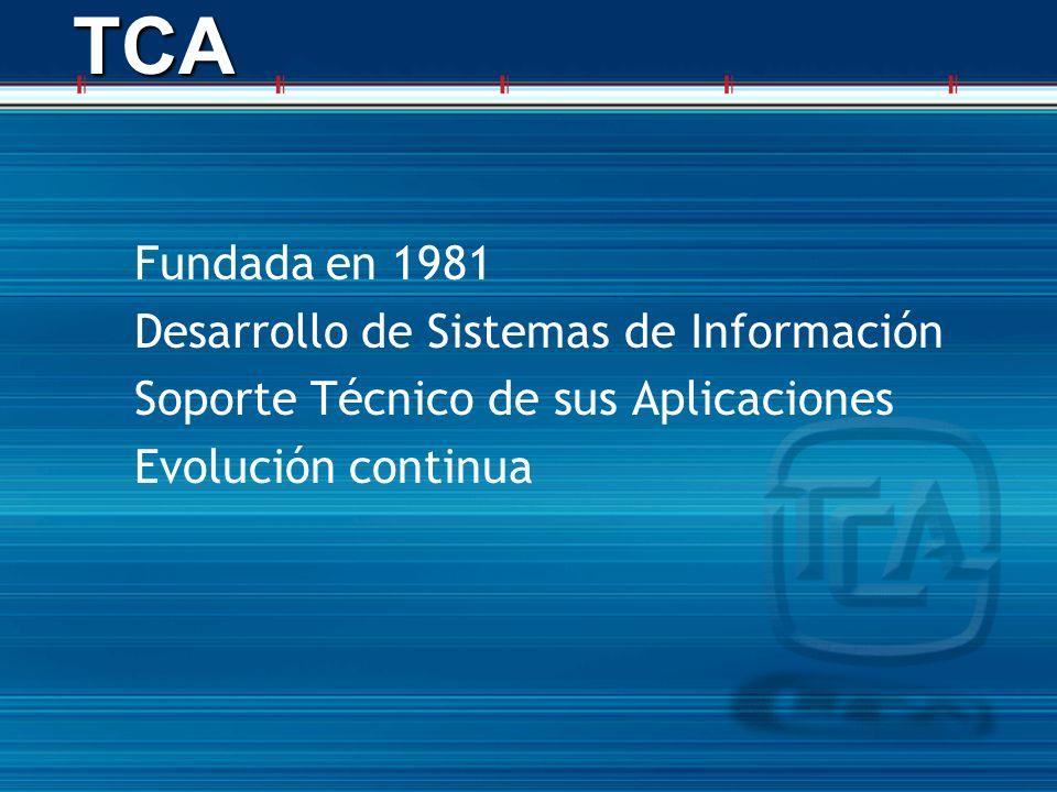 TCA Fundada en 1981 Desarrollo de Sistemas de Información