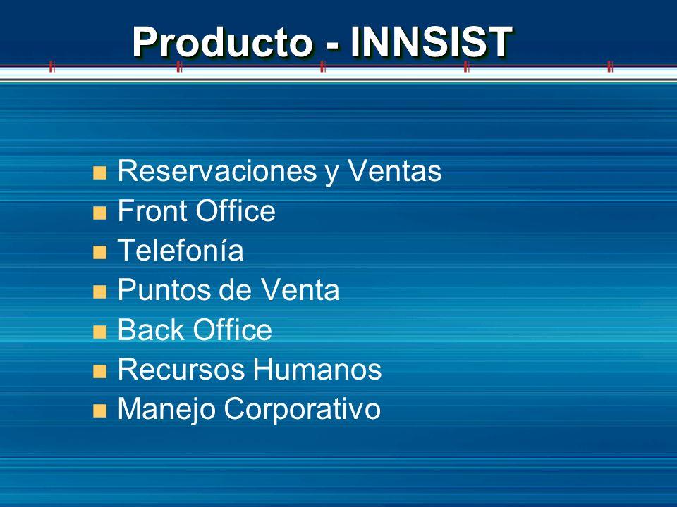Producto - INNSIST Reservaciones y Ventas Front Office Telefonía