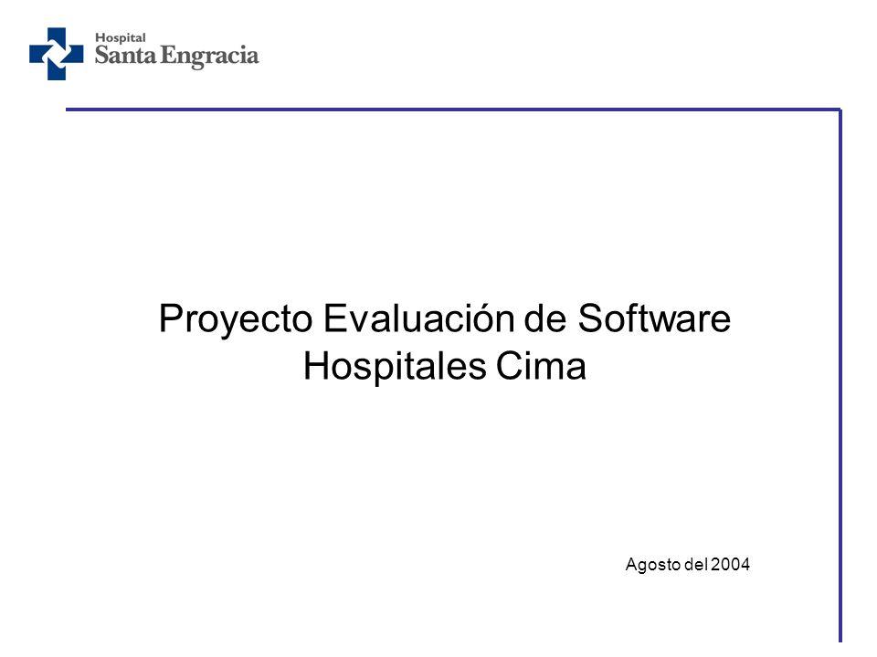 Proyecto Evaluación de Software Hospitales Cima