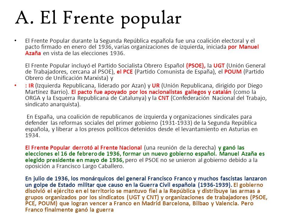 A. El Frente popular