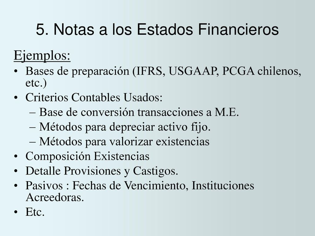 Increíble Resumen Del Plan De Estudios Contable De Ejemplos De ...