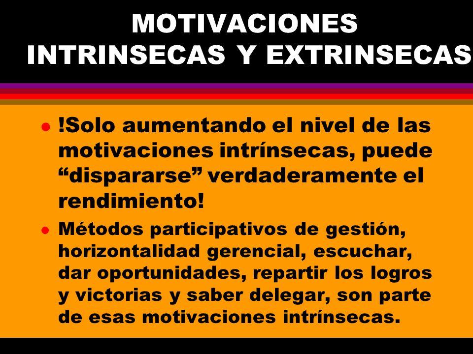 MOTIVACIONES INTRINSECAS Y EXTRINSECAS