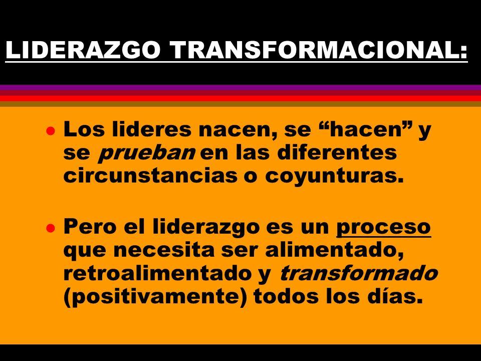 LIDERAZGO TRANSFORMACIONAL: