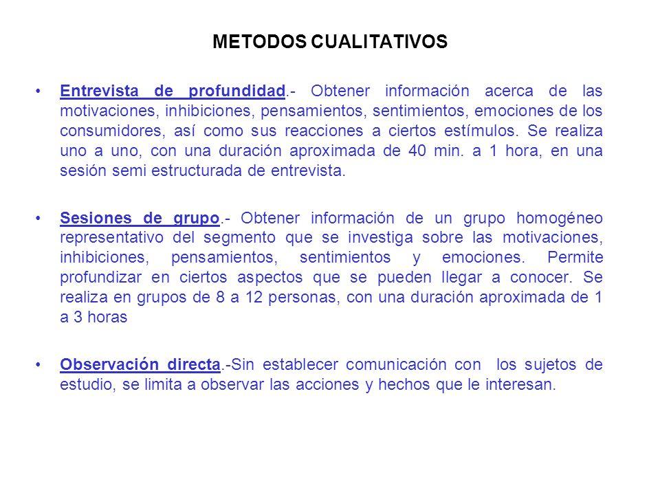 METODOS CUALITATIVOS