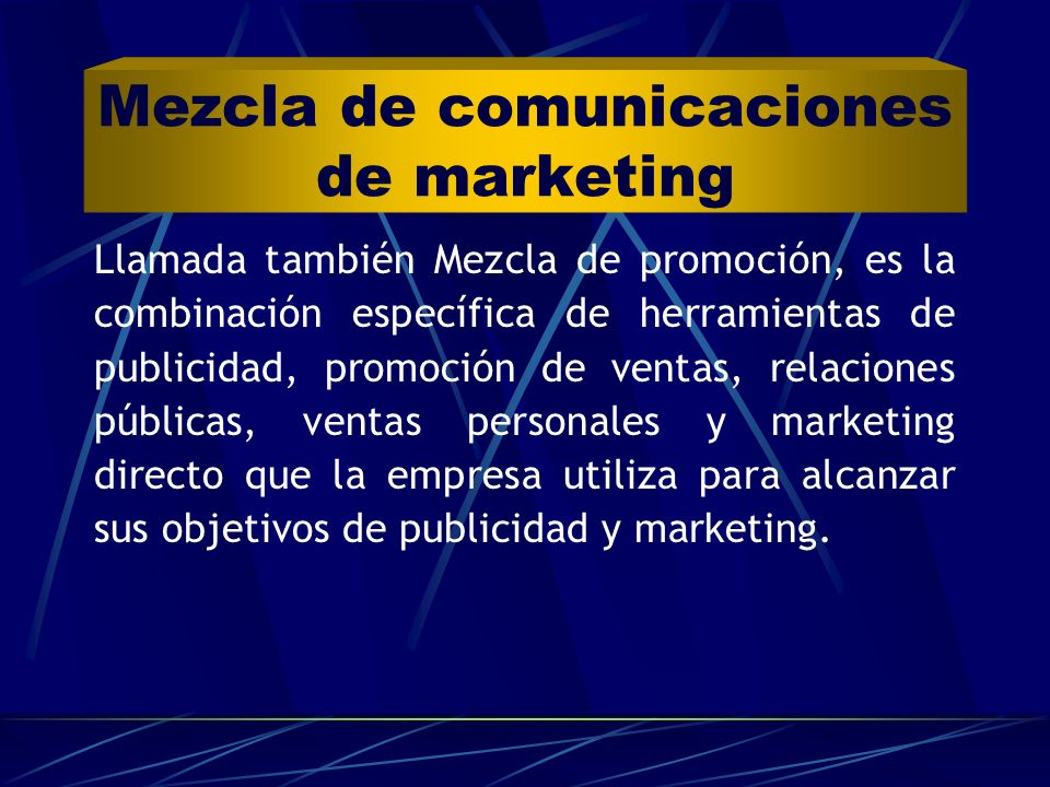 Mezcla de comunicaciones de marketing
