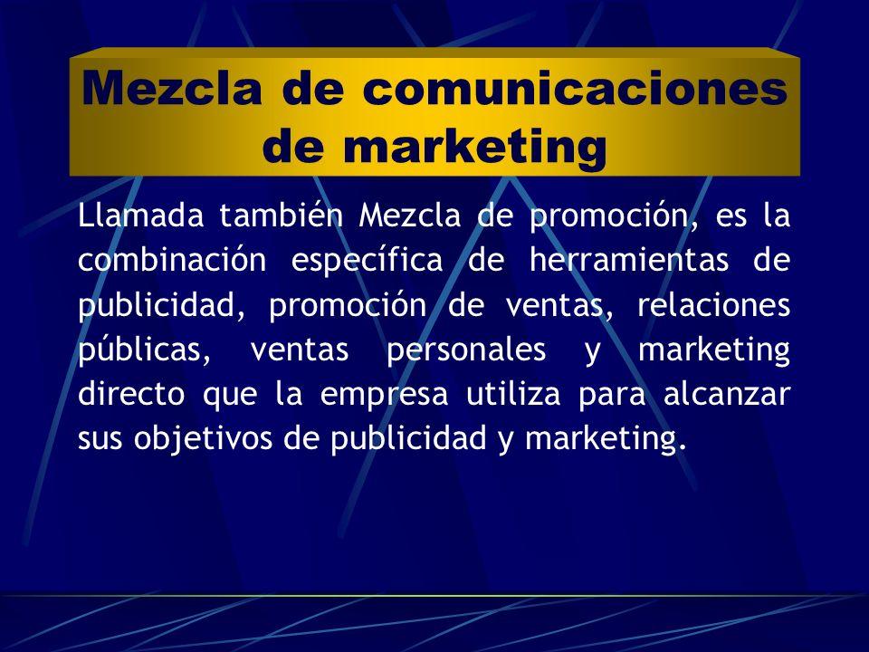 Mezcla de comunicaciones de marketing