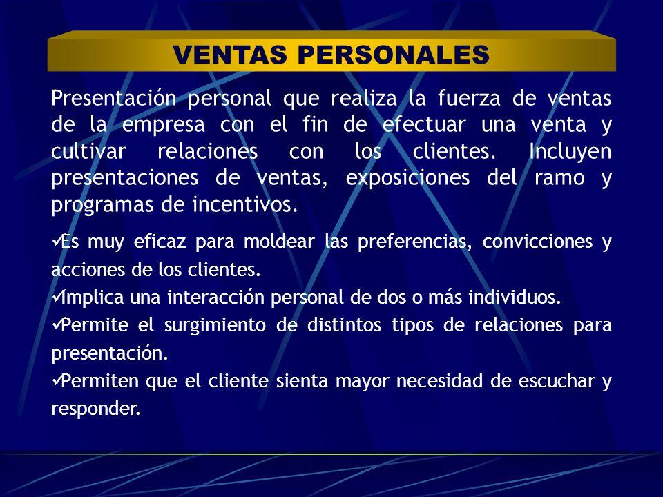 VENTAS PERSONALES