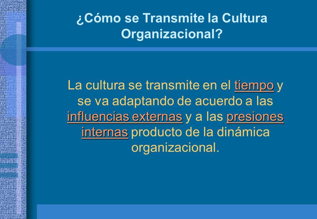¿Cómo se Transmite la Cultura Organizacional