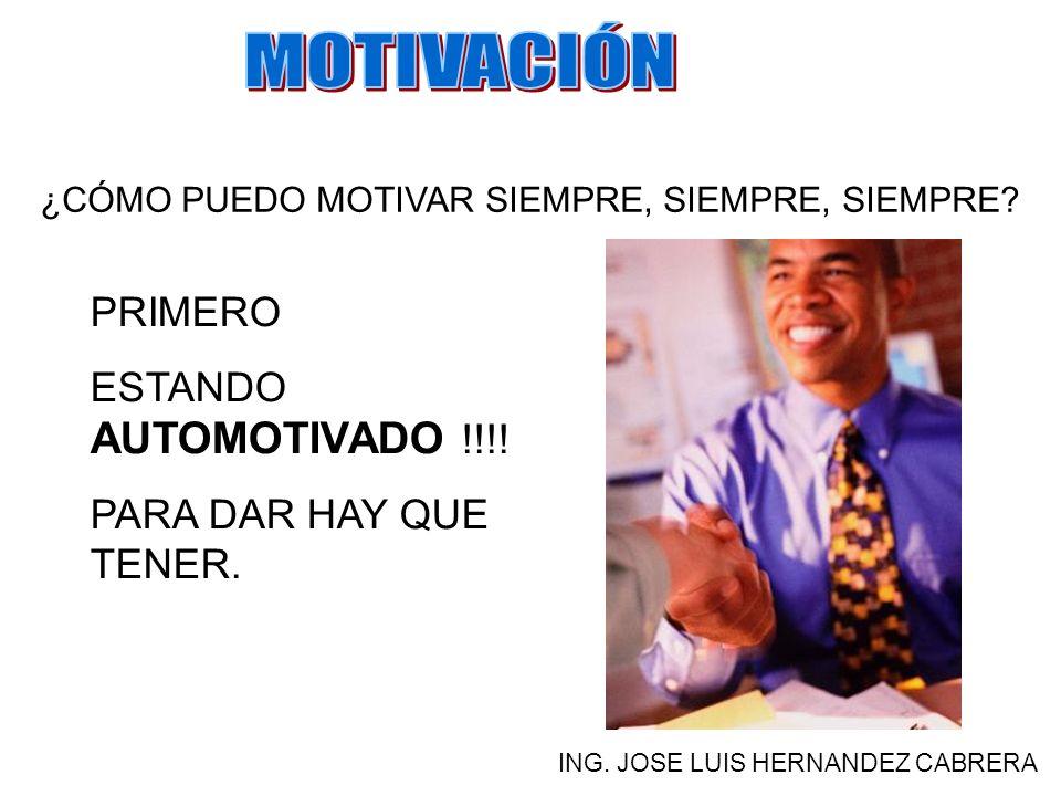 MOTIVACIÓN PRIMERO ESTANDO AUTOMOTIVADO !!!! PARA DAR HAY QUE TENER.
