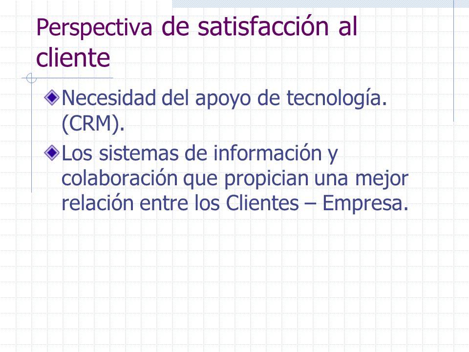 Perspectiva de satisfacción al cliente