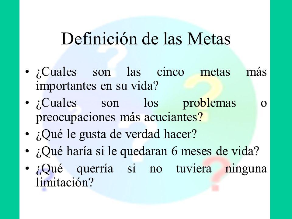Definición de las Metas