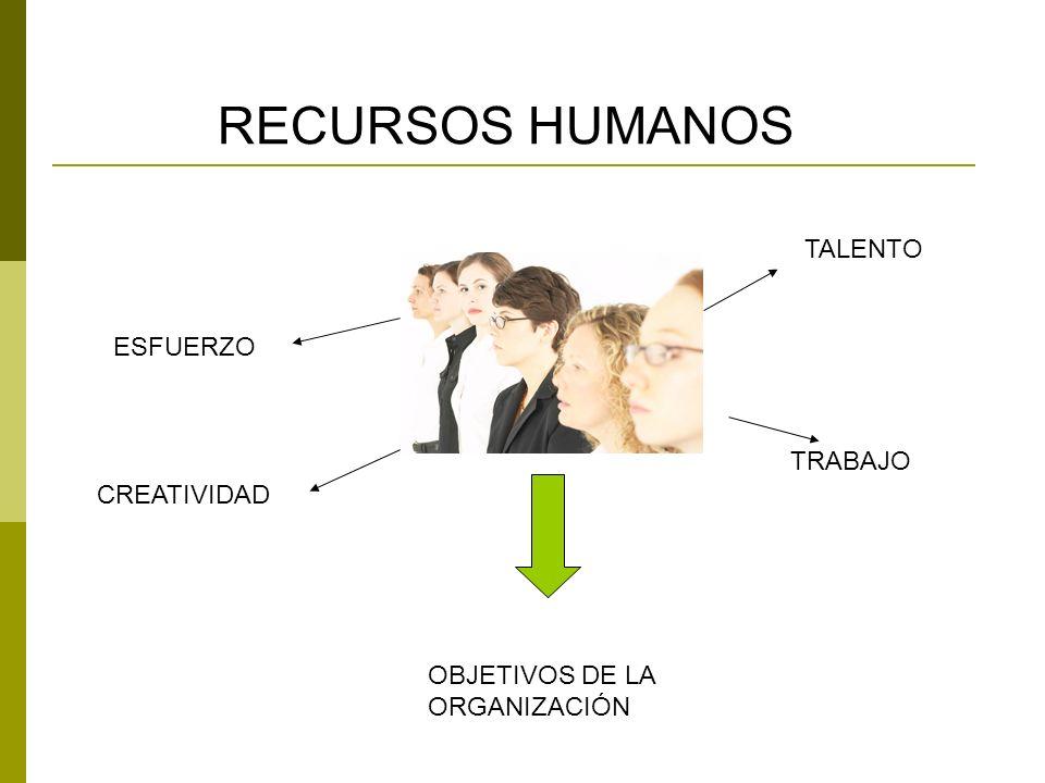 RECURSOS HUMANOS TALENTO ESFUERZO TRABAJO CREATIVIDAD