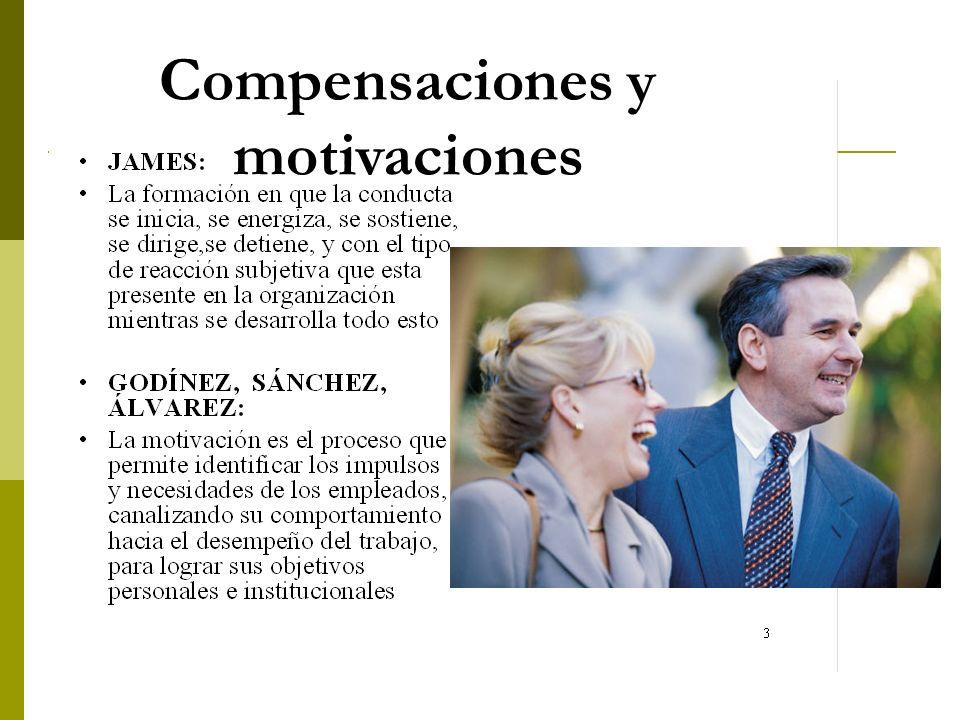 Compensaciones y motivaciones