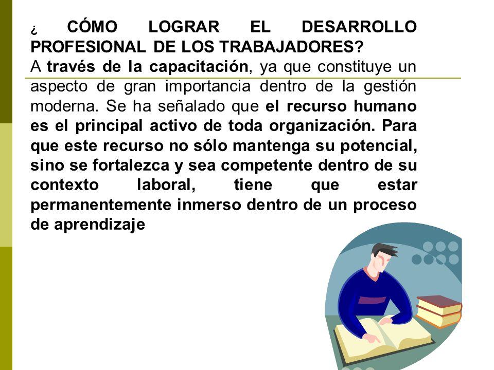 ¿ CÓMO LOGRAR EL DESARROLLO PROFESIONAL DE LOS TRABAJADORES