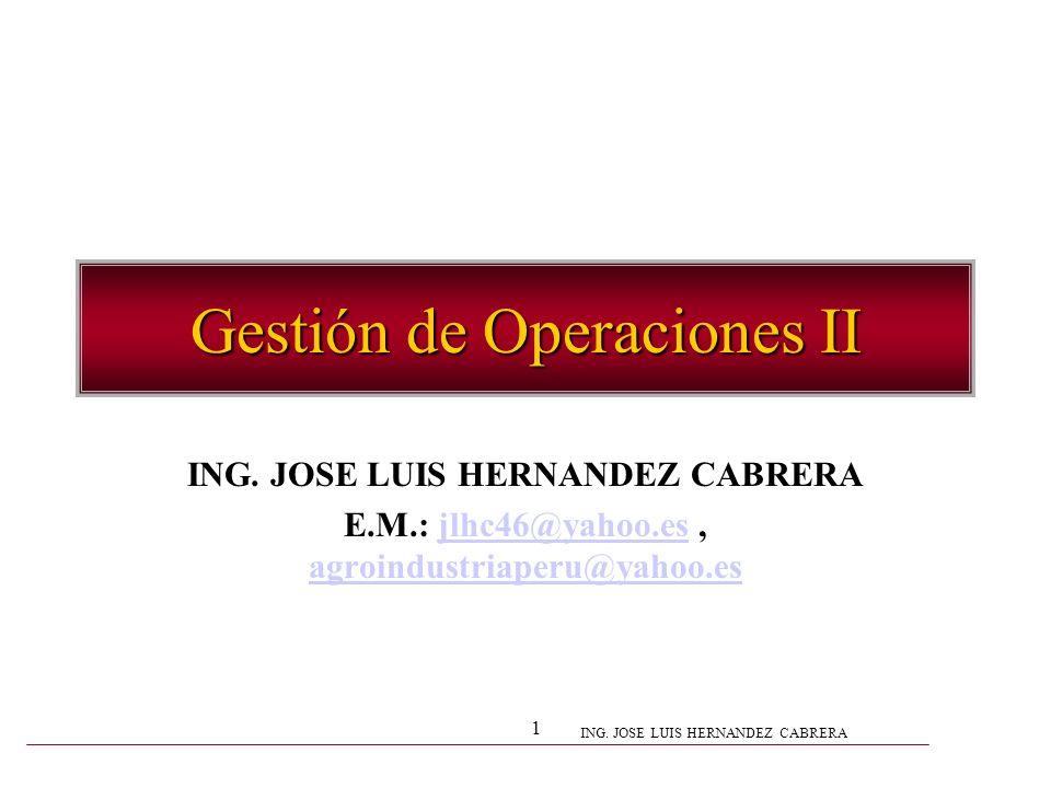 Gestión de Operaciones II