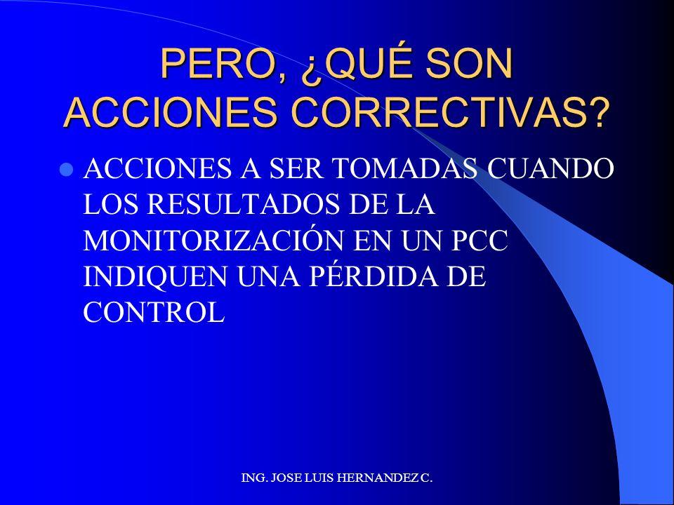 PERO, ¿QUÉ SON ACCIONES CORRECTIVAS