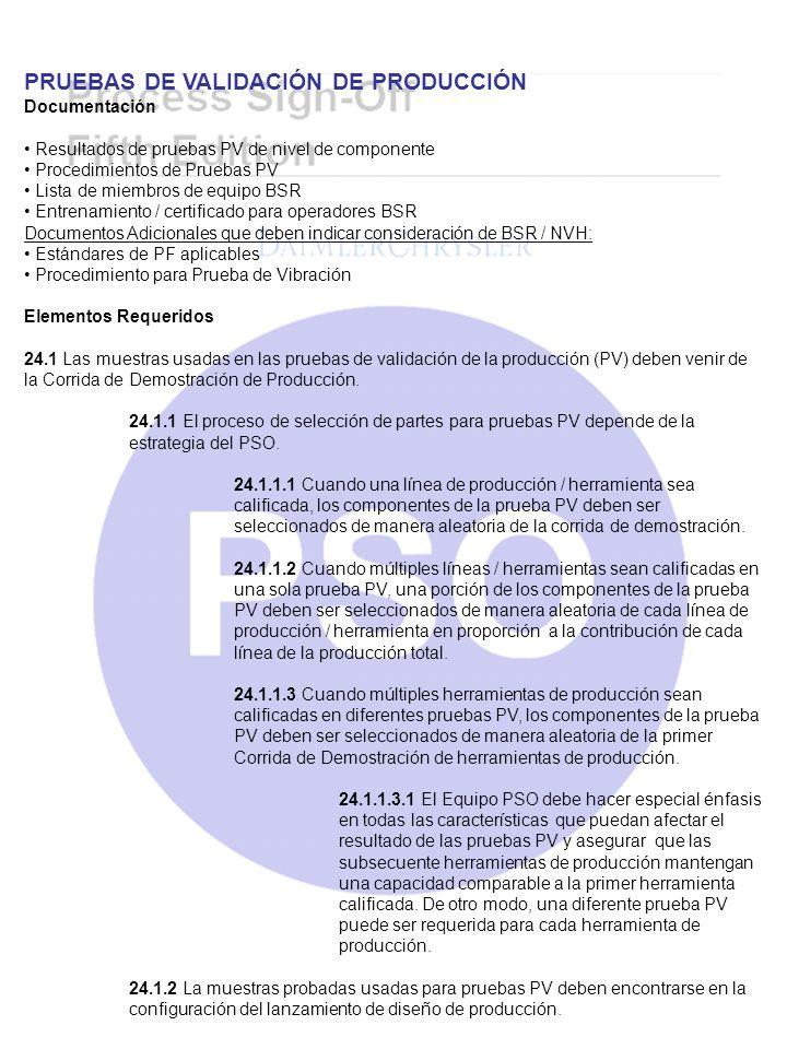 PRUEBAS DE VALIDACIÓN DE PRODUCCIÓN