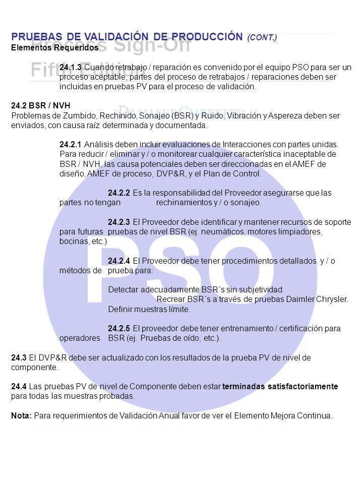 PRUEBAS DE VALIDACIÓN DE PRODUCCIÓN (CONT.)