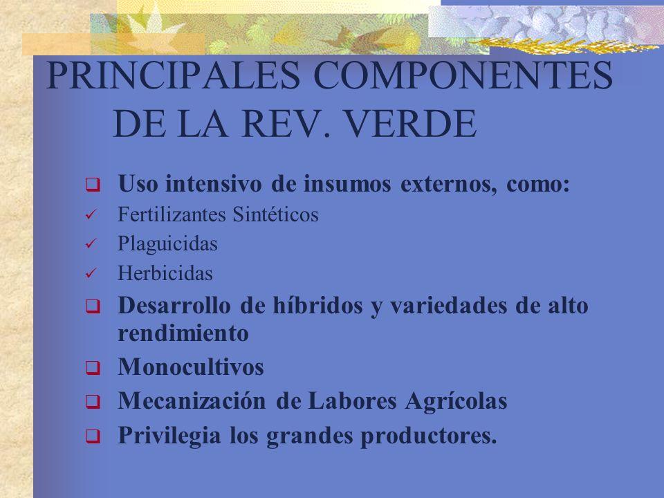 PRINCIPALES COMPONENTES DE LA REV. VERDE