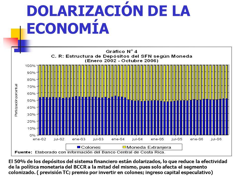 DOLARIZACIÓN DE LA ECONOMÍA
