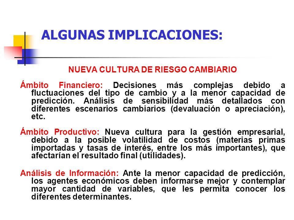ALGUNAS IMPLICACIONES: