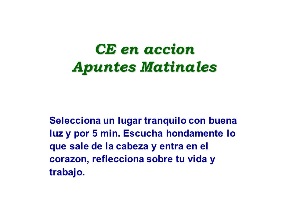 CE en accion Apuntes Matinales