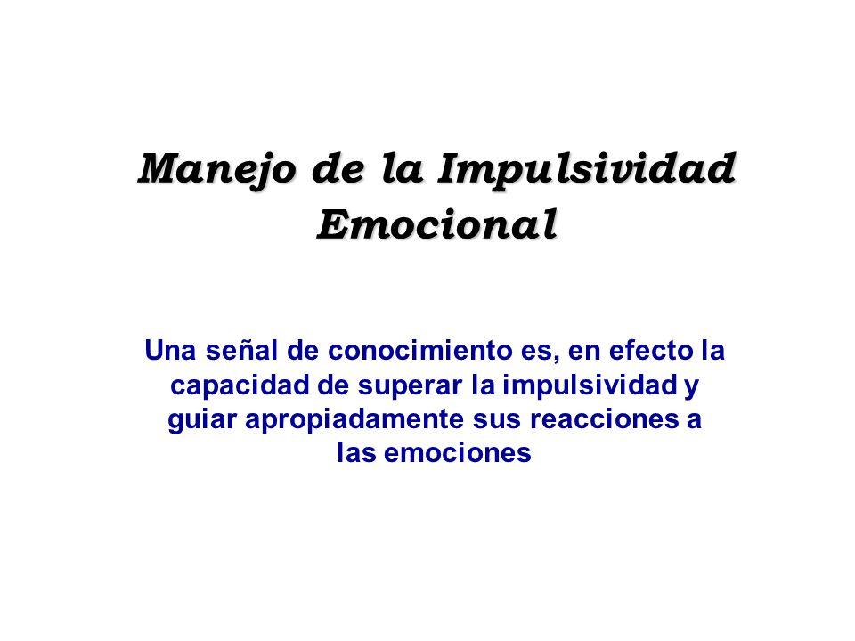 Manejo de la Impulsividad Emocional