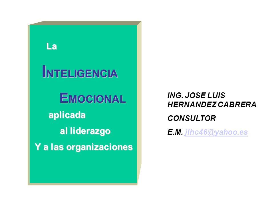 INTELIGENCIA EMOCIONAL La aplicada al liderazgo Y a las organizaciones