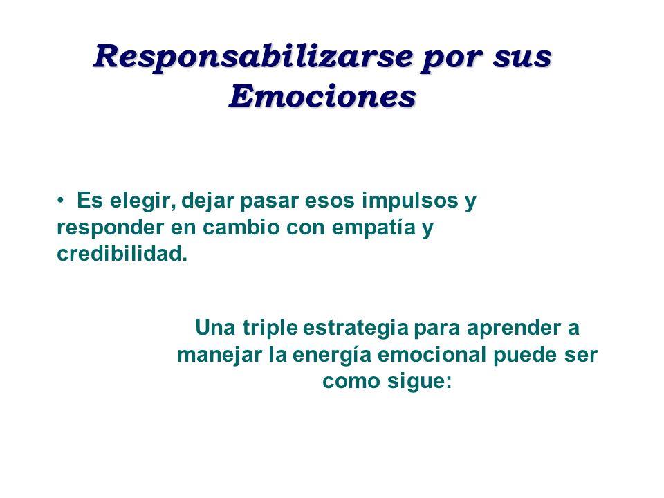 Responsabilizarse por sus Emociones