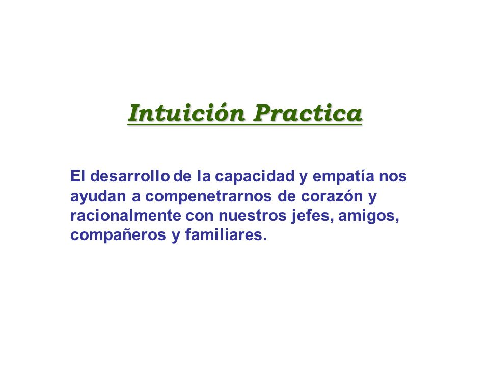 Intuición Practica